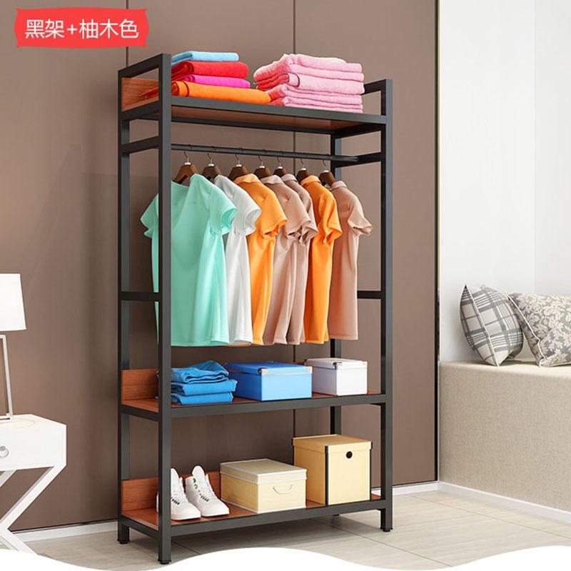 工厂直销钢木衣柜简易多层收纳衣橱 落地现代铁艺双层衣柜经济型