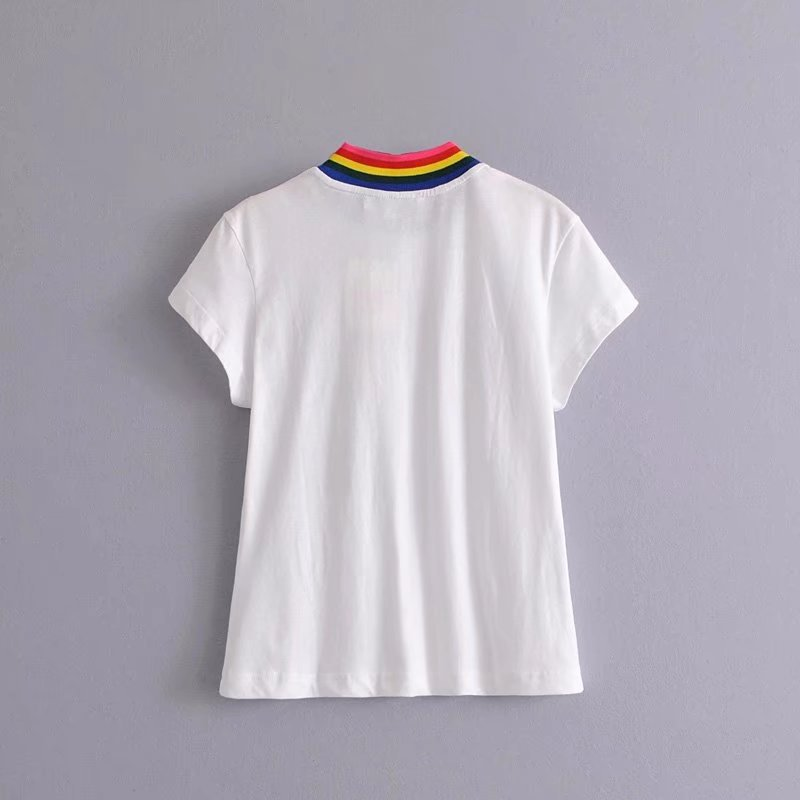 Cotton FashionT-shirt(White-M) NHAM2457-White-M