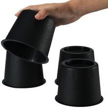 圓款黑色塑料小床腳墊柜腳桌腳沙發腳家具增高腳墊PP材料