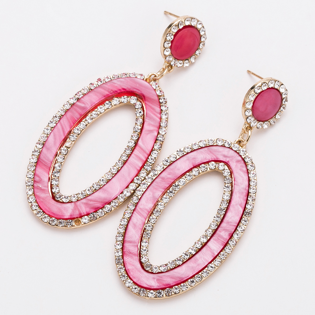 Alloy Fashion Geometric earring(red) NHJE1630-red