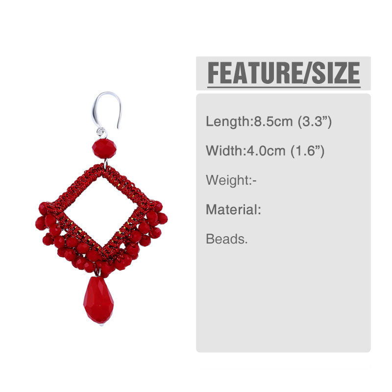 Plastic Vintage bolso cesta earring  red  Fashion Jewelry NHAS0545red