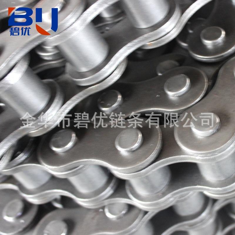 工业弯板链条厂家生产10A小规格弯板链条5分双侧单孔工业弯板链条