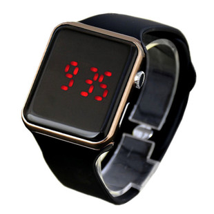 Hot selling fashion leisure electronic watch led electroplating square outdoor sports student gift watch spot wholesale