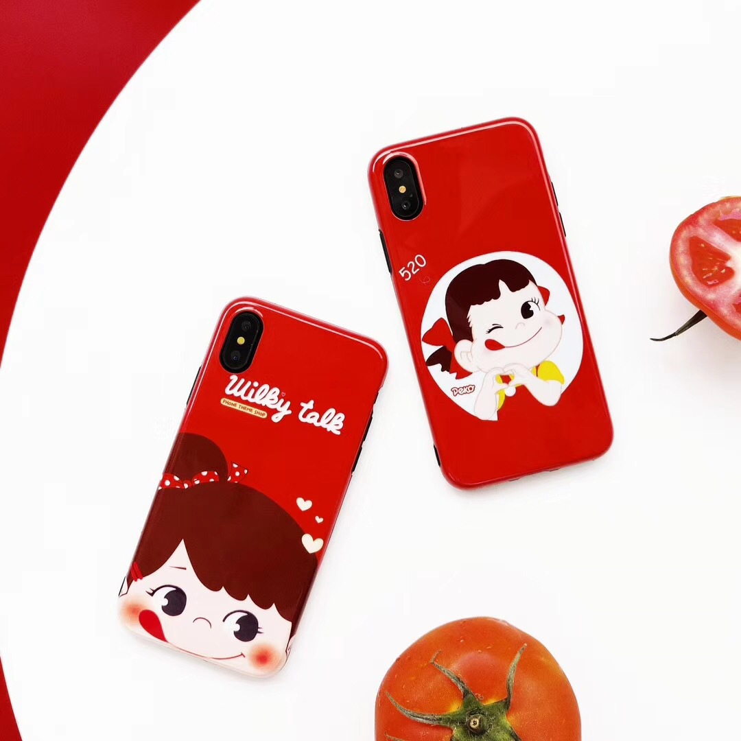 Ins net red with milk sister iphone7 mobile phone shell 8 generation apple 6plus silicone sleeve 6S couple candy shell