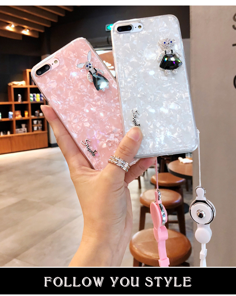 Tide brand cartoon rhinestone mobile phone shell silicone NHJP135305