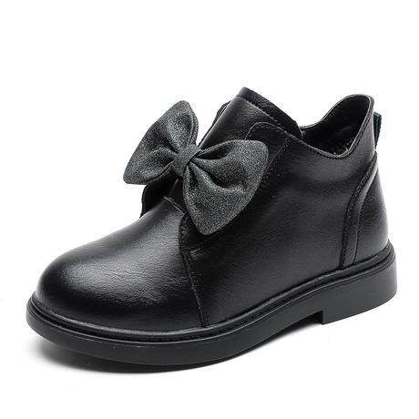 Giày nữ 2019 ngắn mùa đông mới kiểu Anh thời trang công chúa cộng với da nhung hai giày cotton một thế hệ Giày cao cổ