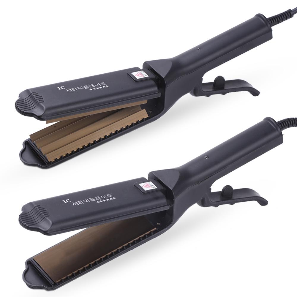 源头厂家美发护发直发器 不伤发卷发器 假调温剪刀型美发夹板
