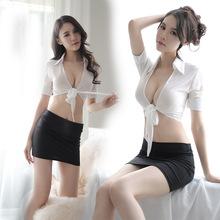 情趣內衣女裝透視開衫制服誘惑性感包臀短裙秘書套裝外貿批發1032
