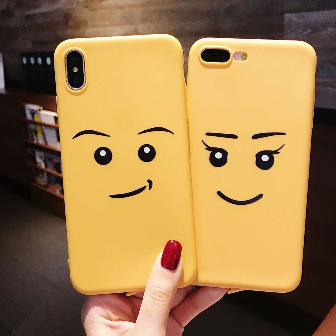 Cartoon cute expression girl for apple xsmax/7plus mobile phone shell all-inclusive matte xr/6s tide new