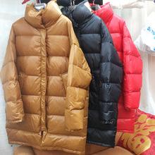 2018冬季新款羽绒服女中长款加厚立领宽松大版休闲立领外套