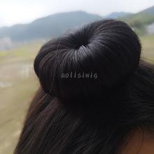 成人版大童款汗毛发夹丸子头发饰宝宝发包BB夹一朵花女童表演假发
