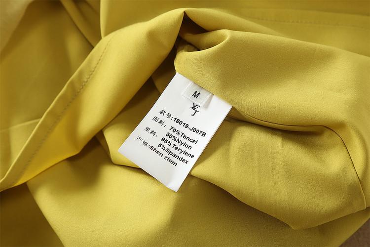 0305-15 圓領修腰綁帶不規則連衣裙尺碼SML顏色圖片色