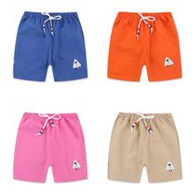 18儿童夏季棉麻五分外穿男女中小童短沙滩裤宝宝打底裤子