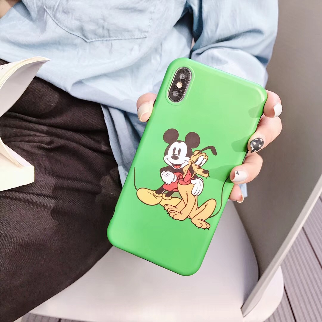 New Mickey Mouse Puppy iPhoneXS Mobile Shell Anti-fall Soft Case Cover 7Plus Soft Shell 8 Simple Shell