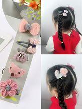 韩版秋冬新款卡通小兔子花朵五角星鸭嘴BB夹儿童组合套装饰品