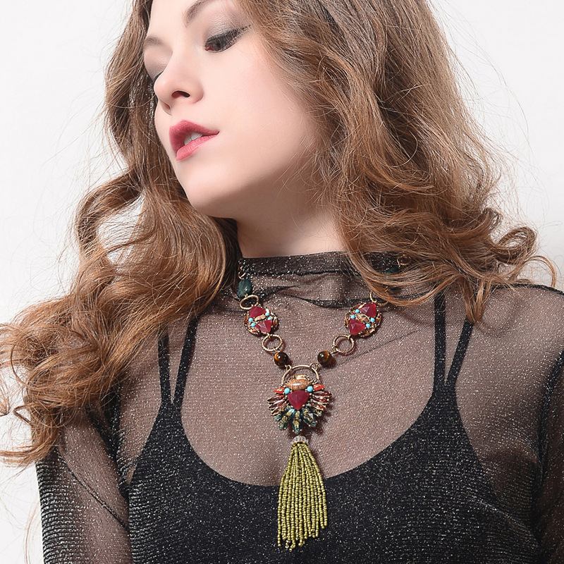 Alloy Fashion Tassel necklace(Photo Color) NHQD5084-Photo Color