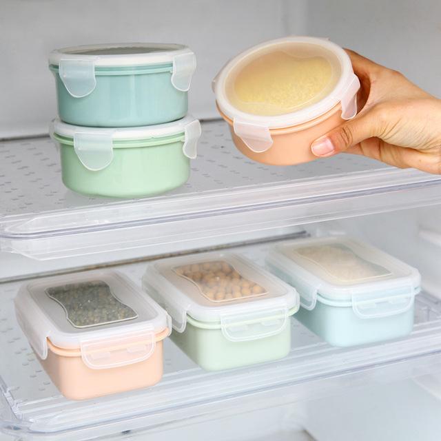 Thông tư nhỏ tủ lạnh crisper nhựa nhỏ hộp hộp ăn trưa trưa lưu trữ nhà bếp kín hộp hình chữ nhật Hộp chiên, hộp ăn trưa