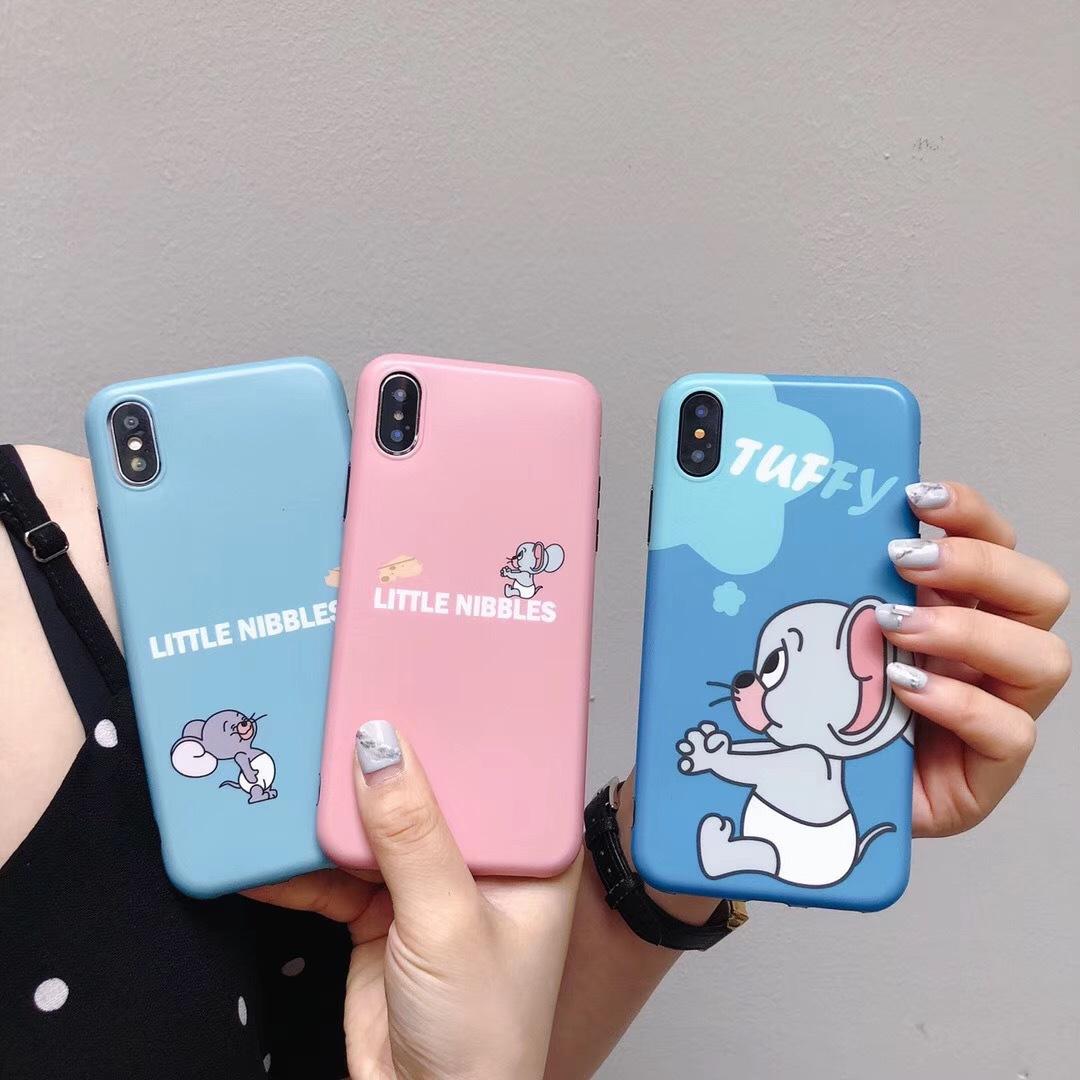 Fun cat mouse for Apple X mobile phone case iPhone8/7Plus cartoon 6/6S cute couple soft set tide