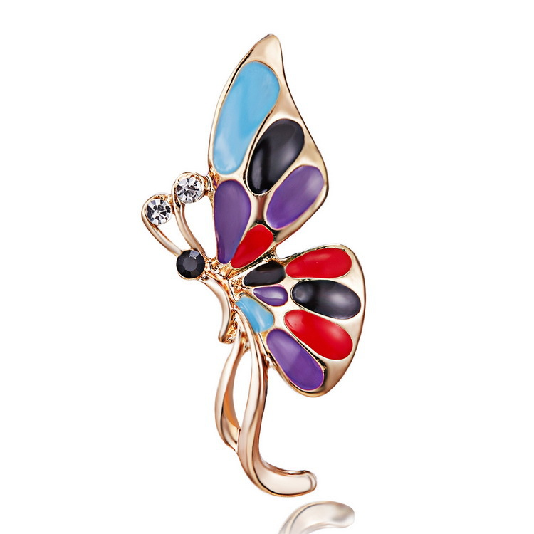 2018 Fashion Butterfly Brooch Pin for Clothes New Animal Pins And ... 5d74fb9476a1