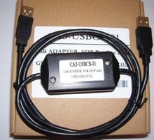 普?#23480;?#26031;触摸屏编程电缆 GP3000以上通讯数据线CA3-USBCB-01