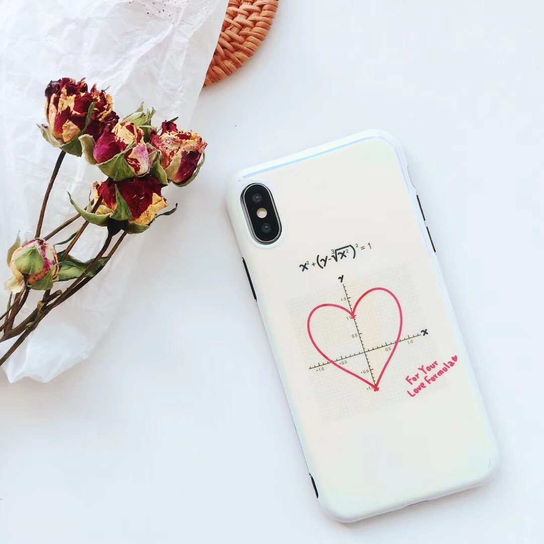 Creative love iPhone8 mobile phone shell Apple 6Plus physics all-inclusive silicone soft shell 6s protective cover wholesale