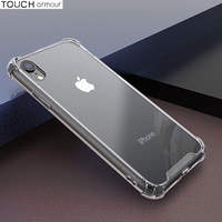 Подходит для iPhone6 / 7 универсальная четырехугольная подушка безопасности против выпадения мобильного телефона Apple 6 / 7plus прозрачный мягкий край защитного рукава