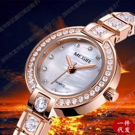 Fashion high-end Meigel megir4203 watch ladies light luxury diamond imported core shell surface copper table
