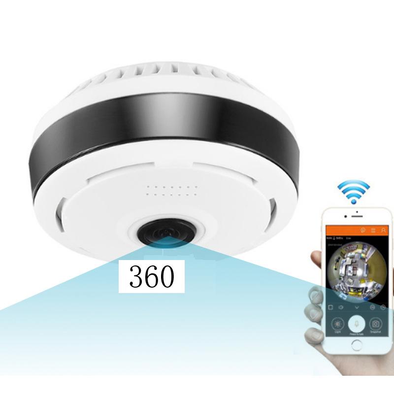 送2.5米延长线 鱼眼全景摄像机360度摄像头 家用监控wifi camera