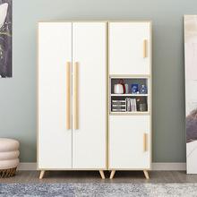 北欧板式衣柜 定制柜子衣橱批发卧室组装整体木质衣帽柜 简易衣柜