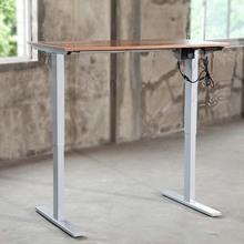 站立式电动升降办公桌智能调节高度可定制桌面简约自动升降电脑桌