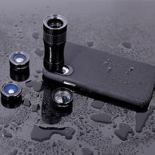 通用14倍長焦鏡頭魚眼廣角微距四合一手機套裝鏡頭14倍手機望遠鏡