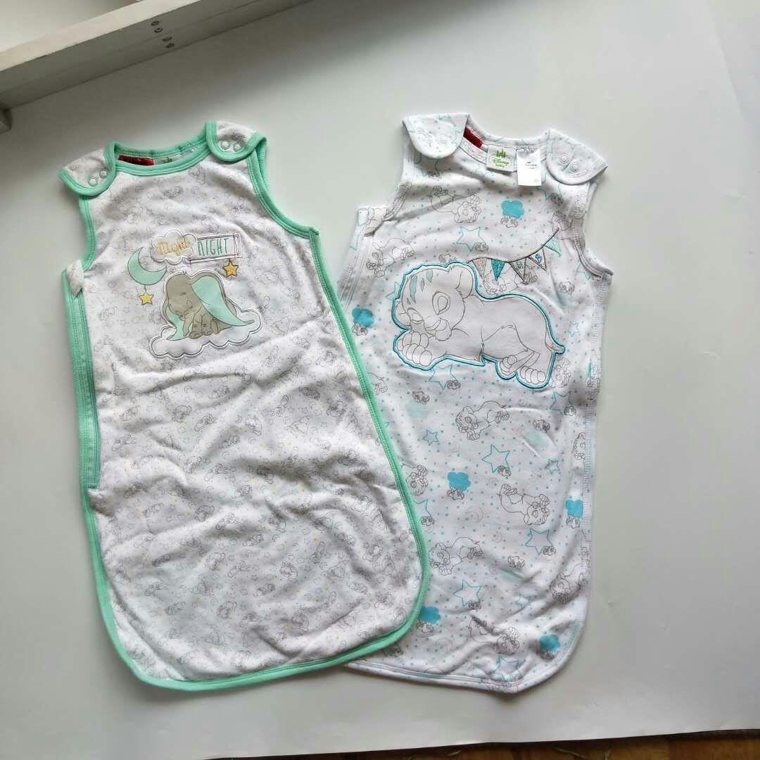 睡袋18秋新外贸尾单DS婴幼童刺绣纯棉睡袋批发