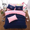 乐肤棉涤棉大版活性简约双拼四件套床单被套厂家直销特价床上用品