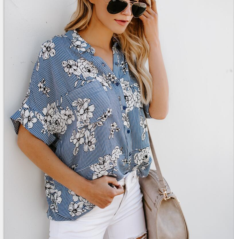 new printed T-shirt shirt blouse wholesale  NSYF1122