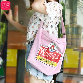 1228 new female Messenger bag wild shoulder bag trend little fairy fast hand net red with the same canvas bag