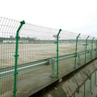 Подгонянная сеть дороги дороги двусторонняя проволочная сетка низкая углеродистая колючая проволока забор производителя