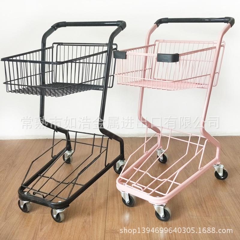 工厂直销 超市手推车 商场超市购物车 KTV推车 金属水果车批发