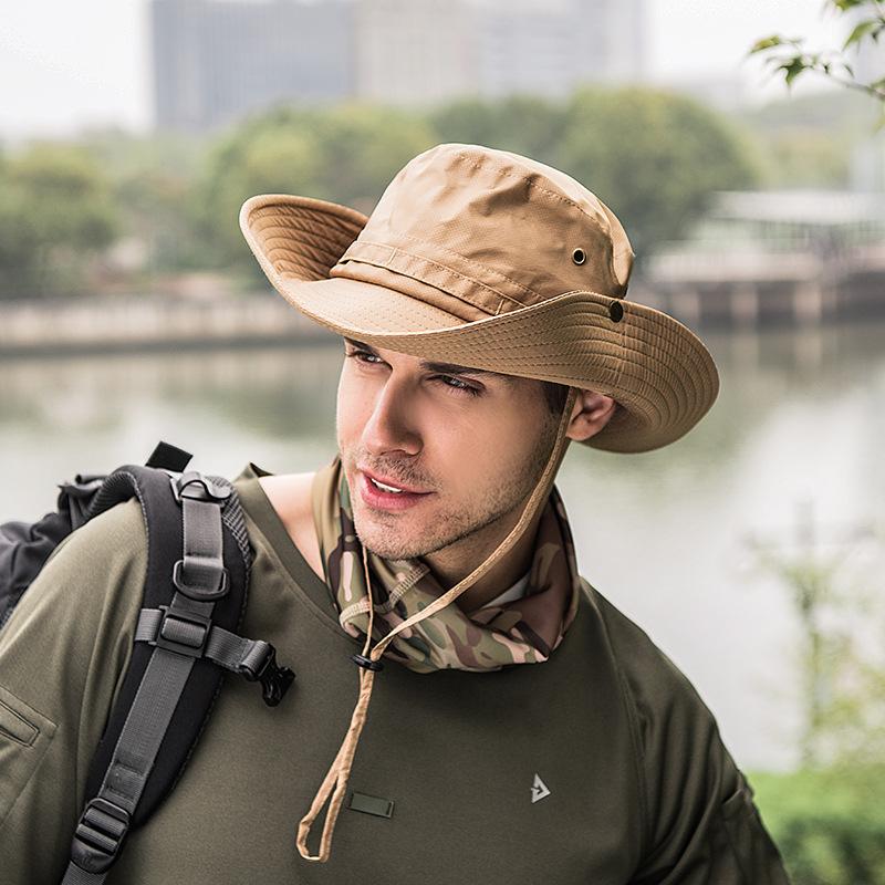 户外帽子女夏天速干渔夫帽遮阳帽 男士防晒帽百搭登山太阳帽子