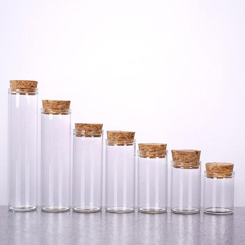 木塞试管高硼硅玻璃瓶 管制试剂瓶 花粉储藏收纳瓶 金线莲干品瓶