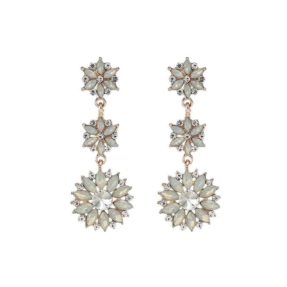 Alloy Fashion Flowers earring  (Alloy) NHHS0152-Alloy