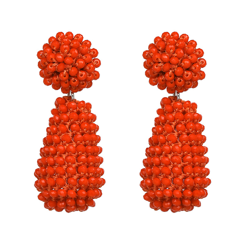 Fashion Acrylic earring Geometric NHJJ3934-red