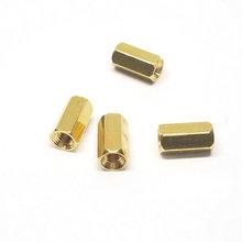 厂家生产六角铜柱螺母 攻牙铜柱螺母 包胶六角螺母