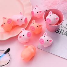 戏水小粉猪 迷你洗澡玩具 婴儿戏水小鸭子搪胶儿童益智玩具批发