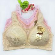 夏季薄款无钢圈无海绵超薄调整型文胸胖mm大码显小全罩杯女内衣