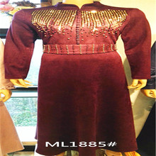 Customized Muslim dress Slim long section to sample OEM OEM production processing