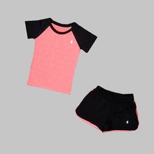 瑜伽服套装女潮春夏新款宽松短袖速干衣健身房专业跑步运动套装女