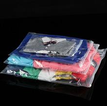 双面透明现货包装服装拉链袋 自封透明塑料衣服收纳包装袋可定制