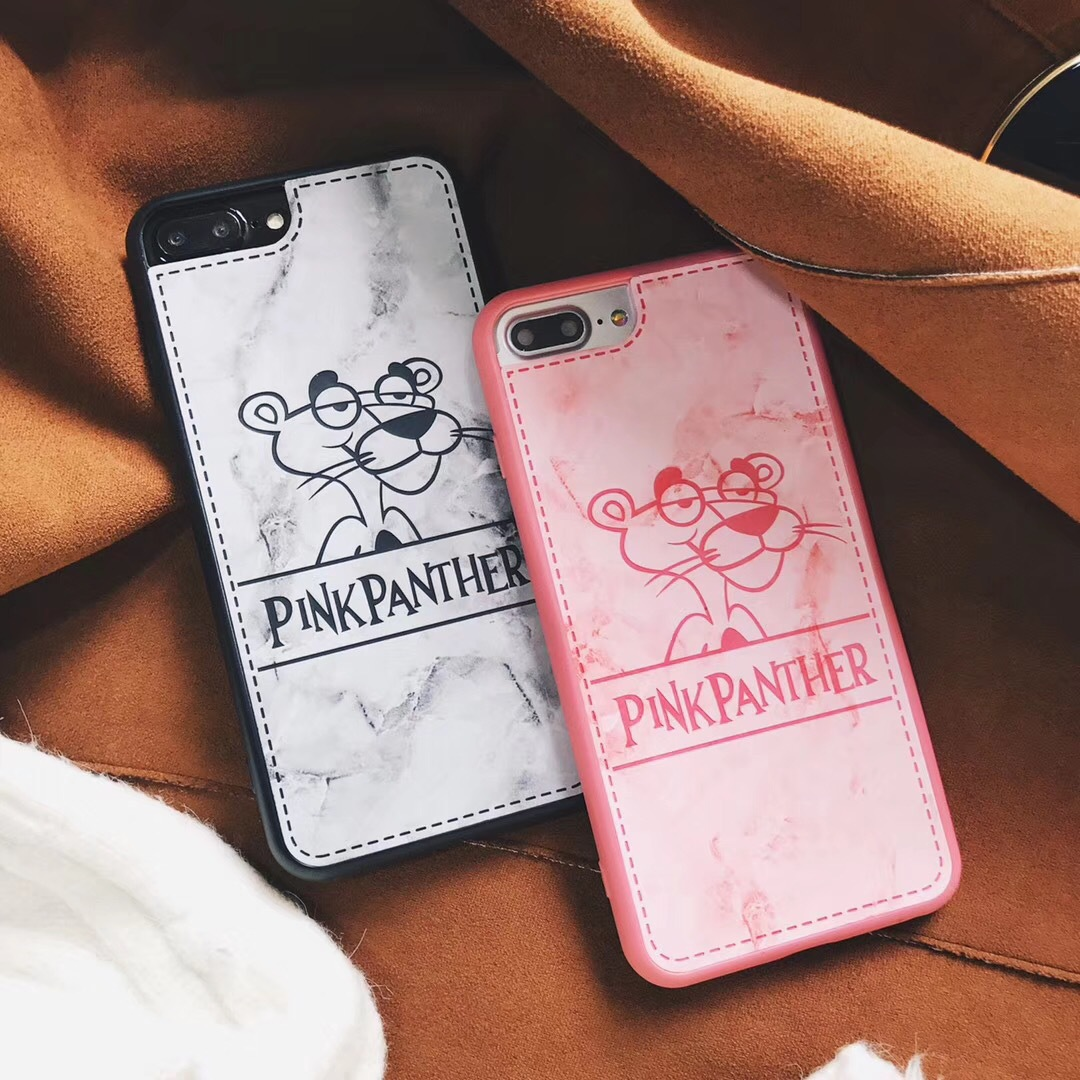 Korea ins marble naughty leopard iphone7/8PLUS mobile phone shell apple 6S couple all inclusive simple soft shell