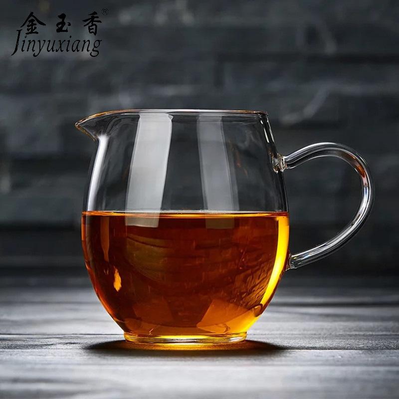 金玉香厂家直销 耐高温玻璃茶海 公道杯 加厚高鹏硅分茶器 茶海