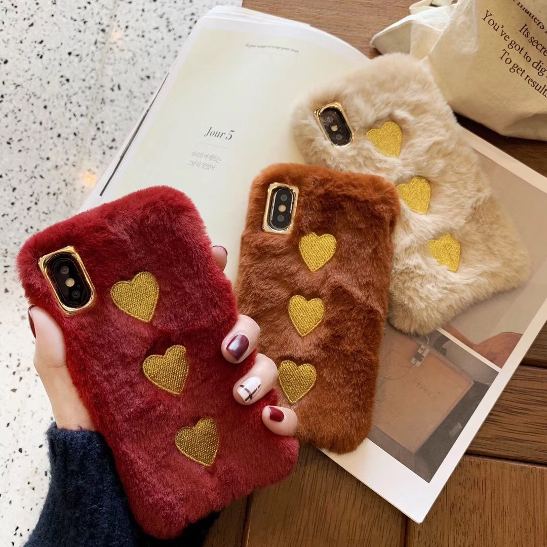 Love plush apple XS Max/XR for mobile phone shell iPhoneX/8plus/7p/6s personality Korean female